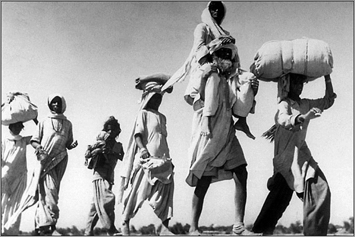 Those who were tired of walking had to be carried on the shoulders by the stronger members of the family.