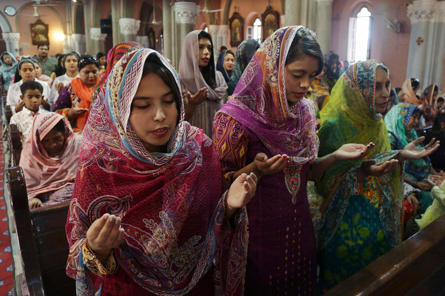Pakistani Christians attend Easter service at Sacred Heart Cathedral, in Lahore, Pakistan.