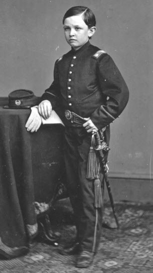 Thomas Lincoln in military uniform. There are several different photos of Tad in military uniform. This is not the one with him in a Zoauve uniform.