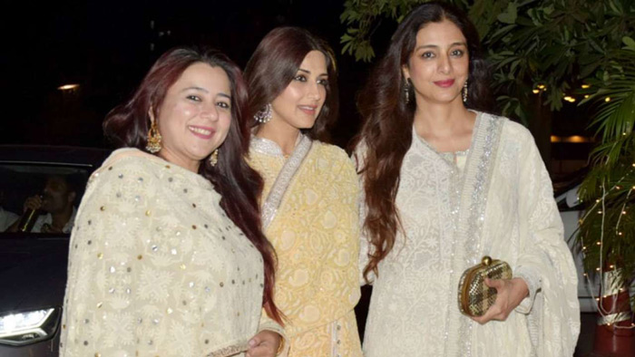 Sonali Bendre turned up for the wedding reception along with hubby Goldie Behl and sister-in-law Srishti Behl.