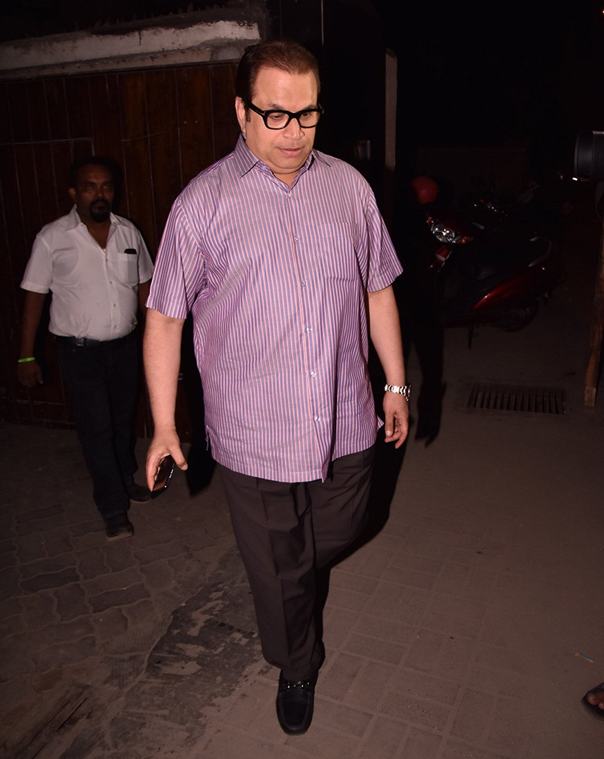 Producer Ramesh Taurani during a party organised at Salman Khan