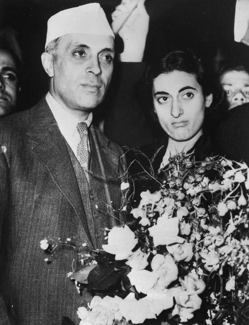 Jawaharlal Nehru and his Daughter,Indira.