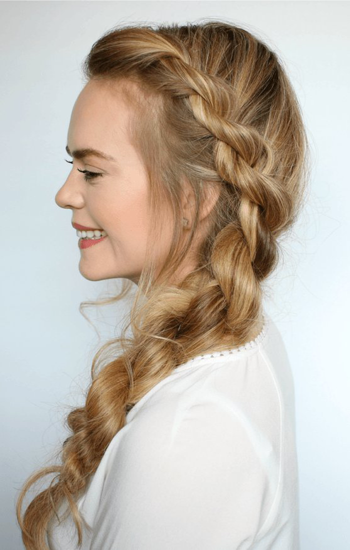 6. Rope braid hairstyle
