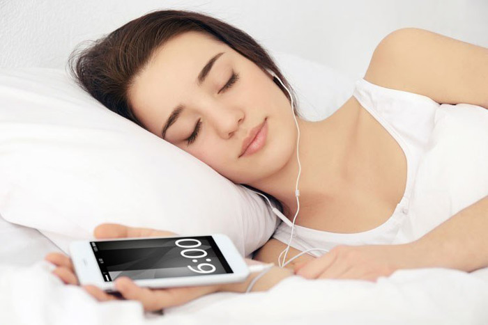 6. Avoid sleeping with your headphones on.
