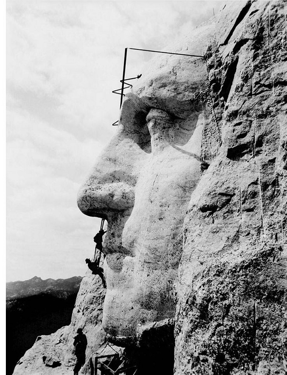 Mount Rushmore Being Carved (1932)