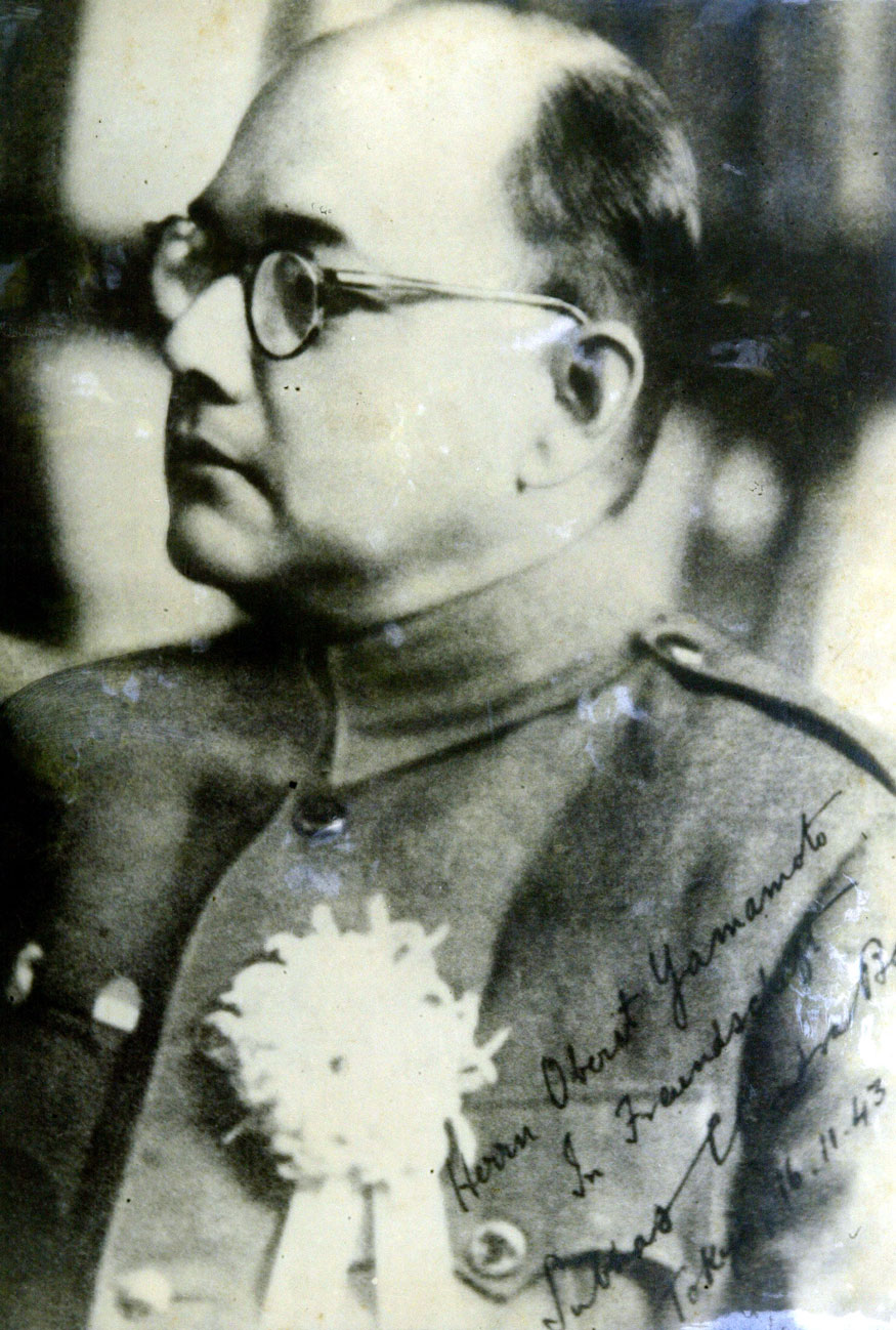 Handout portrait of the leader of the Indian National Army Subhas Chandra Bose that is on display at the Netaji Research Bureau in Kolkata