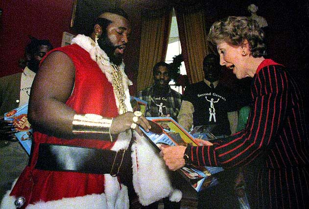 Mr. T and Nancy Reagan