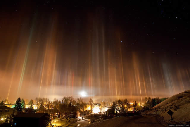 Light Pillars, Jackson WY