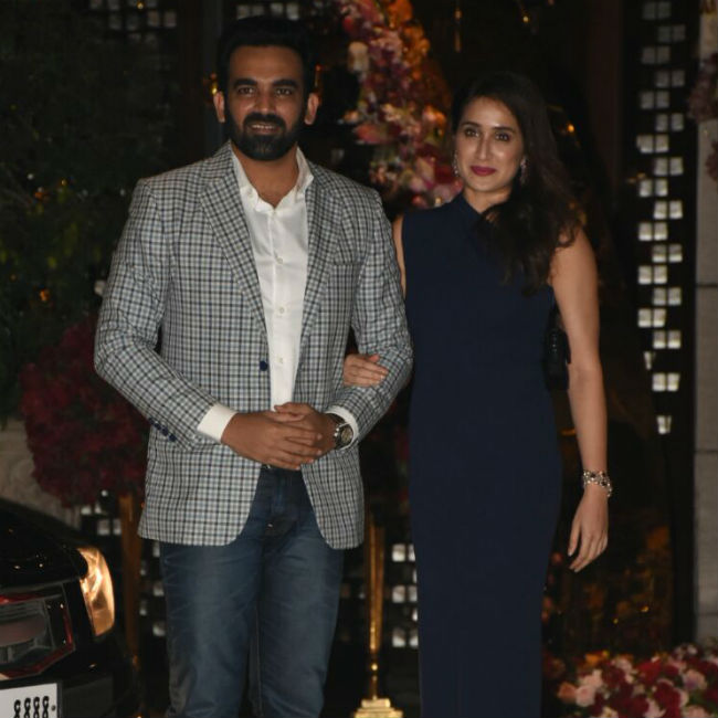 Sagarika Ghatge and Zaheer Khan made a couple entry.