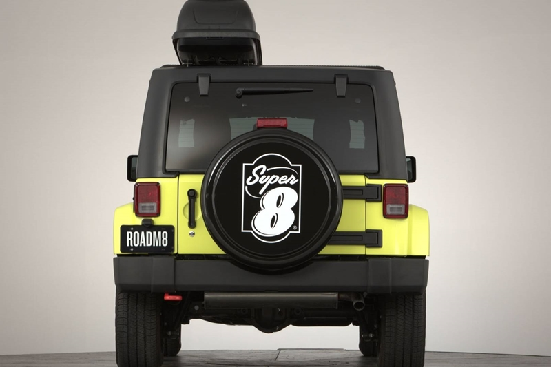 On the outside, the Wrangler gets a custom Super 8 logo on the spare wheel and optional overhead storage! Most importantly however, one must remember that the car underneath is a Jeep Wrangler which is one of the most capable go-anywhere 4x4s in the country!