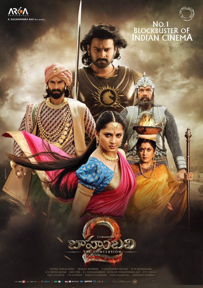 Baahubali 2 won under Best Popular Film Providing Wholesome Entertainment, Best VFX and Best Action Direction