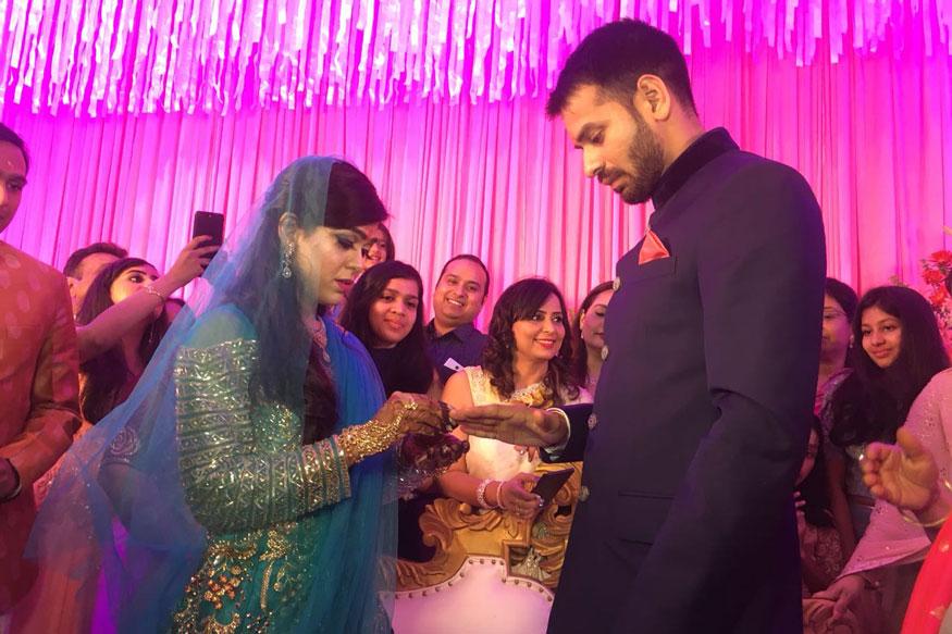 Rashtriya Janata Dal chief Lalu Prasad Yadav's son Tej Pratap Yadav got engaged
