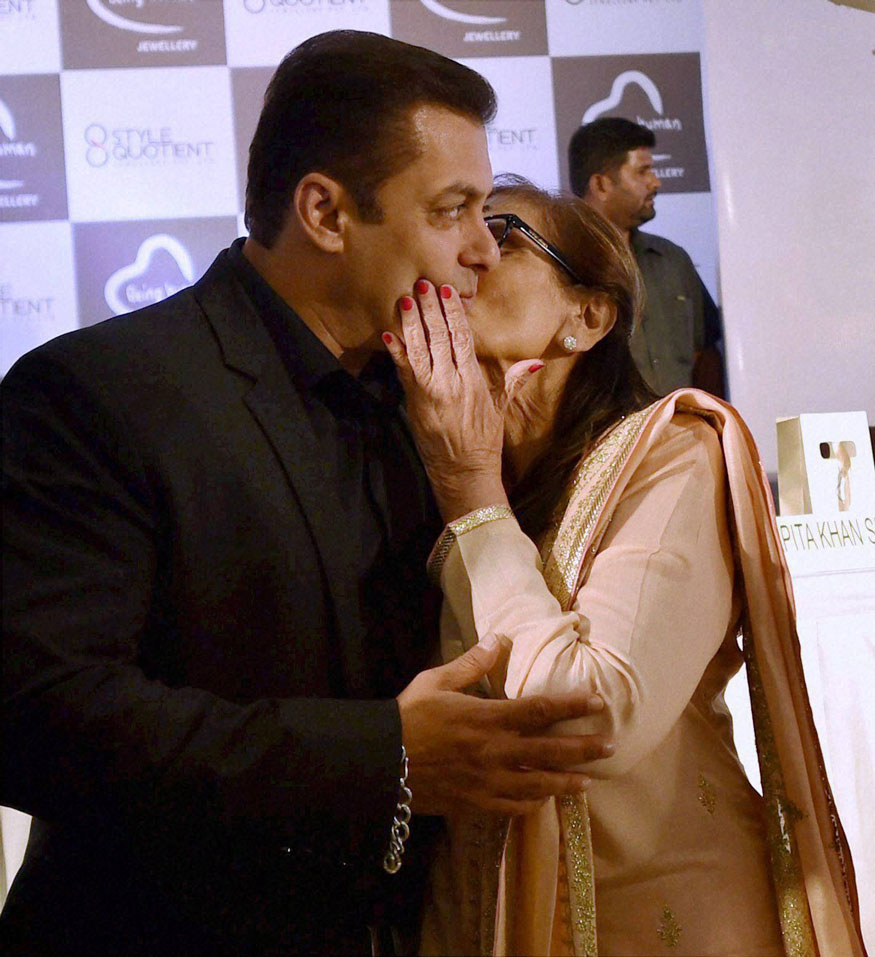 Salman Khan and Salma Khan.