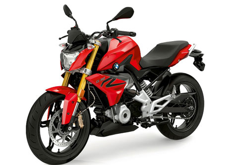 BMW G 310 R in Racing Red paint finish.