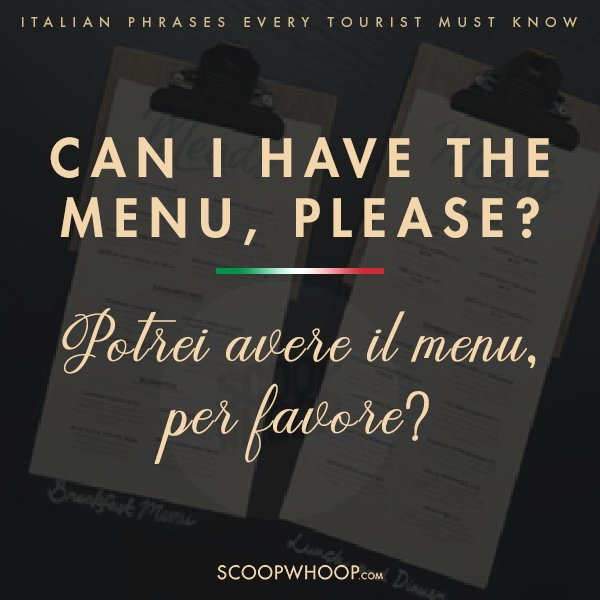 7. If you are ready to try some Italian cuisines at a restaurant don