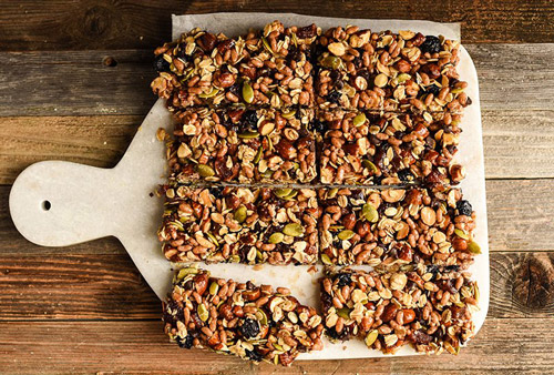 7. Energy bars are rich in carbs that aide in boosting energy and strength.