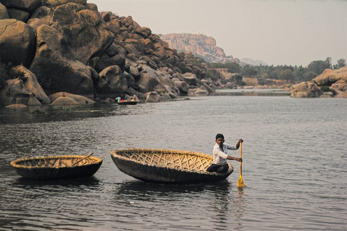 7. Go for a ferry ride/coracle ride across Tungabhadra river.