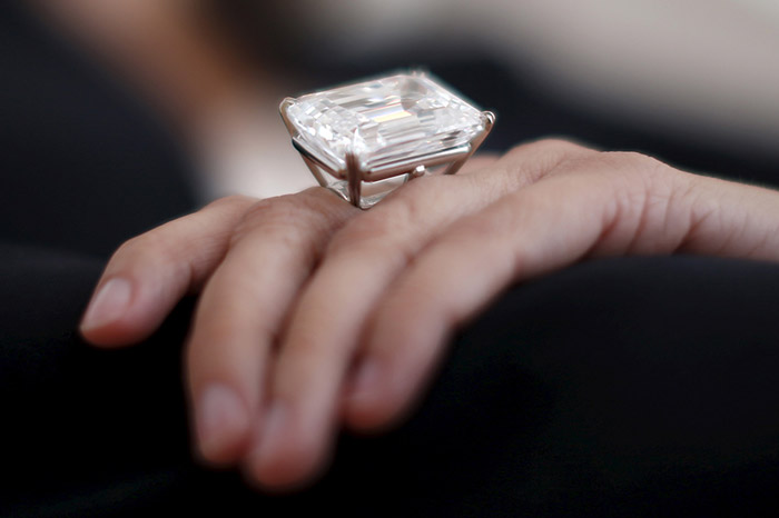 100.20-carat diamond ring - The ring is expected to sell for the US $19-25 million.
