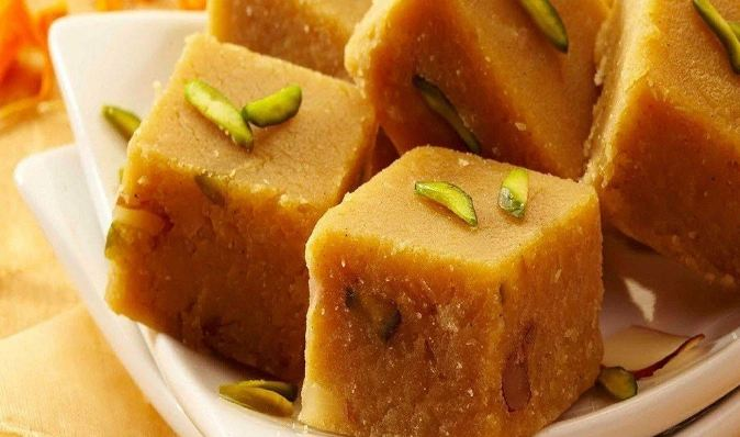 7. Are you in love with mangoes? If yes, try making Mango Barfis for your loved ones to mark the joy of the festivals. Click here to see the recipe.