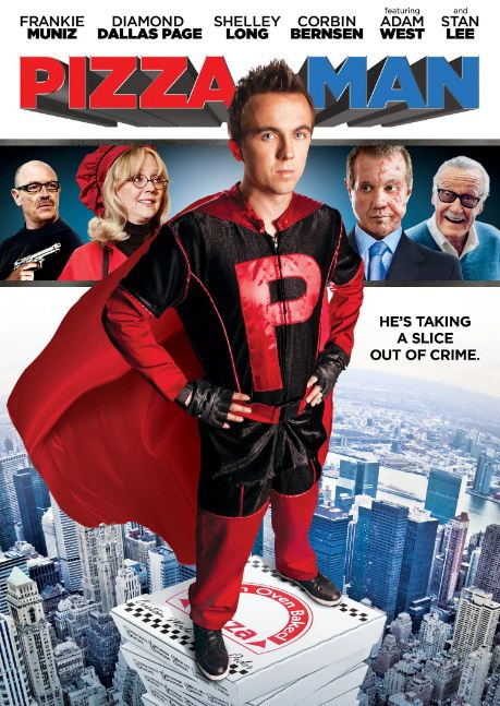 7. Pizza Man, a movie released in 2011 is the only pizza-themed superhero movie in which actor Frankie Muniz plays the role of a pizza delivery guy who acquires superpowers from eating a genetically modified tomato.
