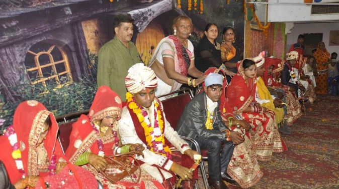 7. A social activist organised a mass wedding for 15 transgender couples in Chandigarh.